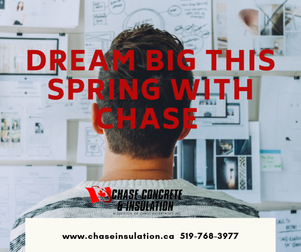 Build it with the team at Chase Concrete and Insulation