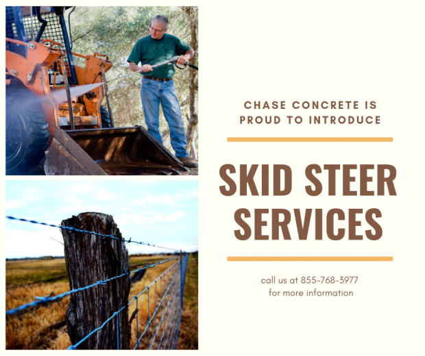 Introducing Skid Steer Services!